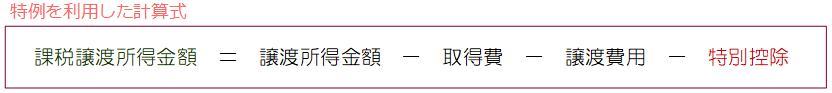 空き家3,000万円控除計算式